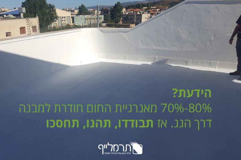 בידוד גגות מחום עם תרמלייף