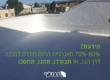 בידוד גגות מחום